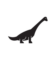 brachiosaurus black concept icon vector image