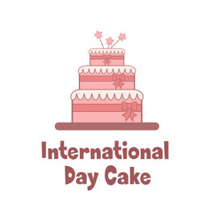 bright holiday poster for international cake day vector image