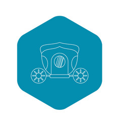 Brougham icon outline style vector