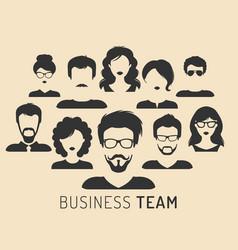 Business team management vector