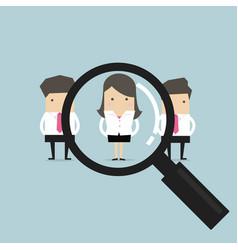 businesswoman recruit concept vector image
