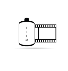 camera film icon vector image