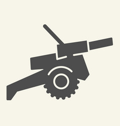 Cannon solid icon war vector