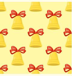 christmas bell holiday xmas seamless vector image