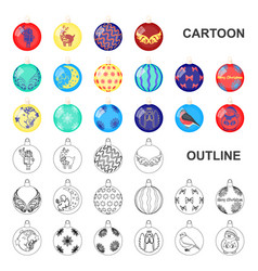 christmas toys cartoon icons in set collection for vector image