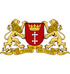 Coat of arms of gdansk poland vector