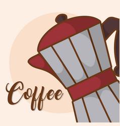 Coffee kettle maker vector