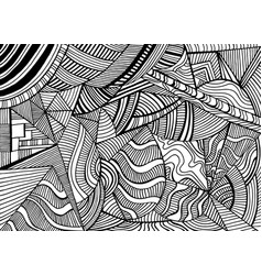 Coloring abstract pattern with many shapes and vector