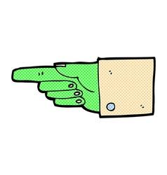 comic cartoon pointing zombie hand vector image