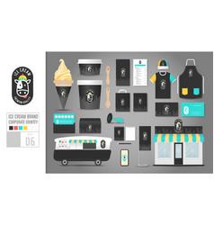 corporate identity template set 6 logo concept vector image