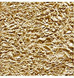 Crumpled foil surface gold vector