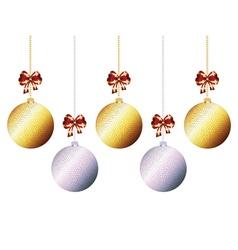 Decorative xmas balls7 vector