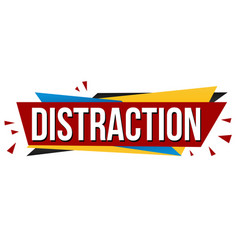 distraction banner design vector image