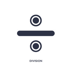 Division icon on white background simple element vector