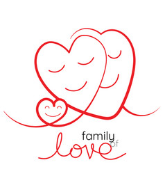 family of love mother father vector image