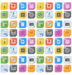 File types and formats seamless pattern background vector