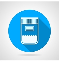 Flat round icon for urine sample container vector