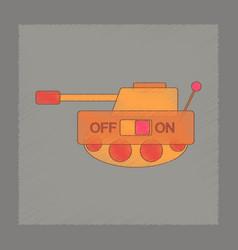 flat shading style icon kids tank vector image
