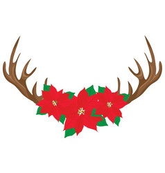 floral antlers vector image