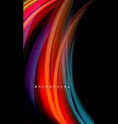 Fluid colors abstract background twisted liquid vector