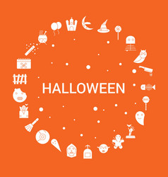 Halloween icon set infographic template vector