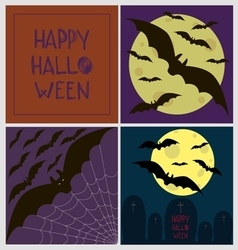 Halloween poster card set vector