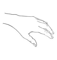 hand drawn woman vector image