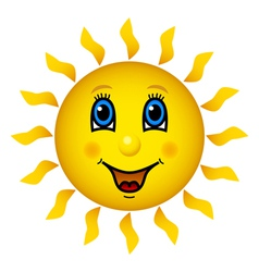 Happy smiling sun vector