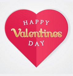happy valentines poster with heart symbol vector image