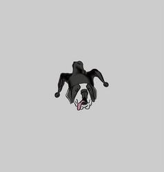 head dog on grey background vector image
