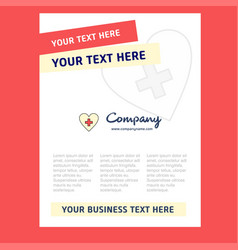 heart title page design for company profile vector image