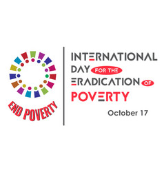 international day for eradication poverty vector image
