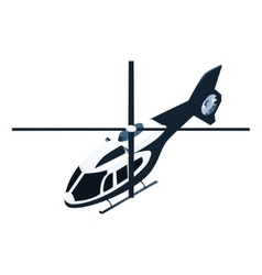 Isometric police helicopter vector