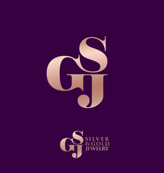 logo s g and j monogram compound vector image