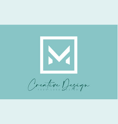 M letter icon design with creative modern look vector