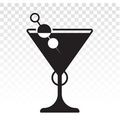 Martini cocktail flat icon for apps and website vector