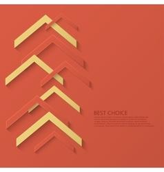Modern arrow technology background vector