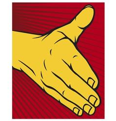 open hand vector image