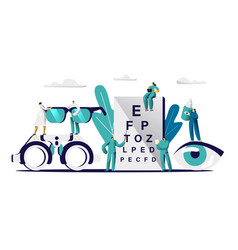Ophthalmologist doctor check eyesight eyeglasses vector