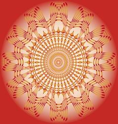 ornamental sun poster vector image vector image