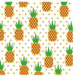 Pineapple tropical and exotic fruit pattern vector
