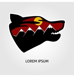 Pofessional wolf logo vector image