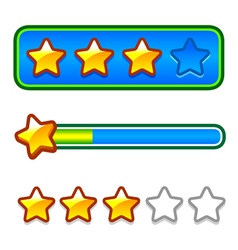 Progress bar set with stars vector image