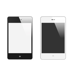 Realistic Smart Phone With Blank Screen Set With vector image