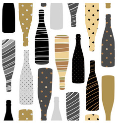 seamless pattern with champagne glasses vector image