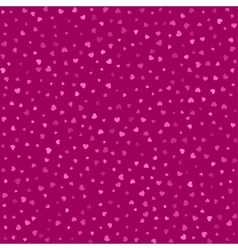 Seamless pattern with pink hearts background vector image