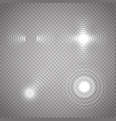 Set of glowing sonar waves vector