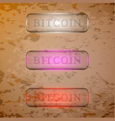 Set of transparent buttons vector