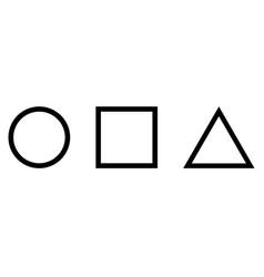 Squid game symbols round square triangle vector
