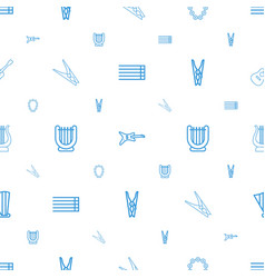 string icons pattern seamless white background vector image